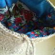 模様編みバッグの内側