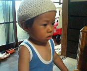夏~秋のニット帽・Little BOY