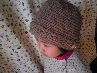 細編みのベルト・ニット帽